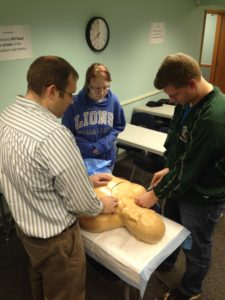 Students practice procedures at the Mercy Regional Simulation Lab